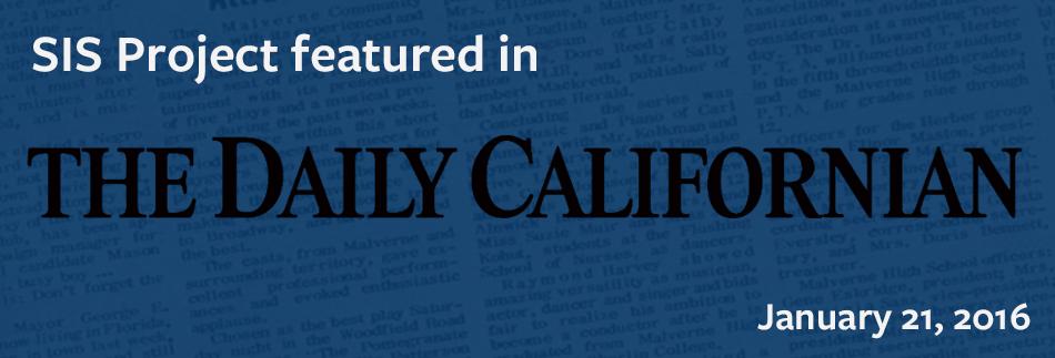 Daily Cal: Jan 21, 2016